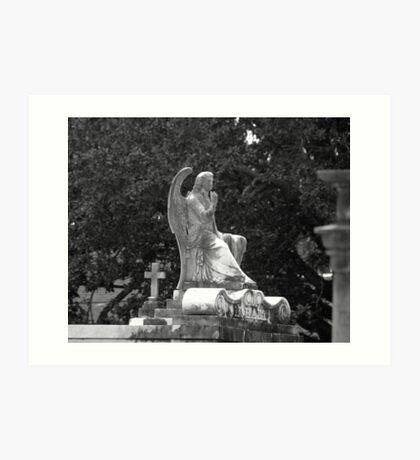 Cemetery Statue Art Print