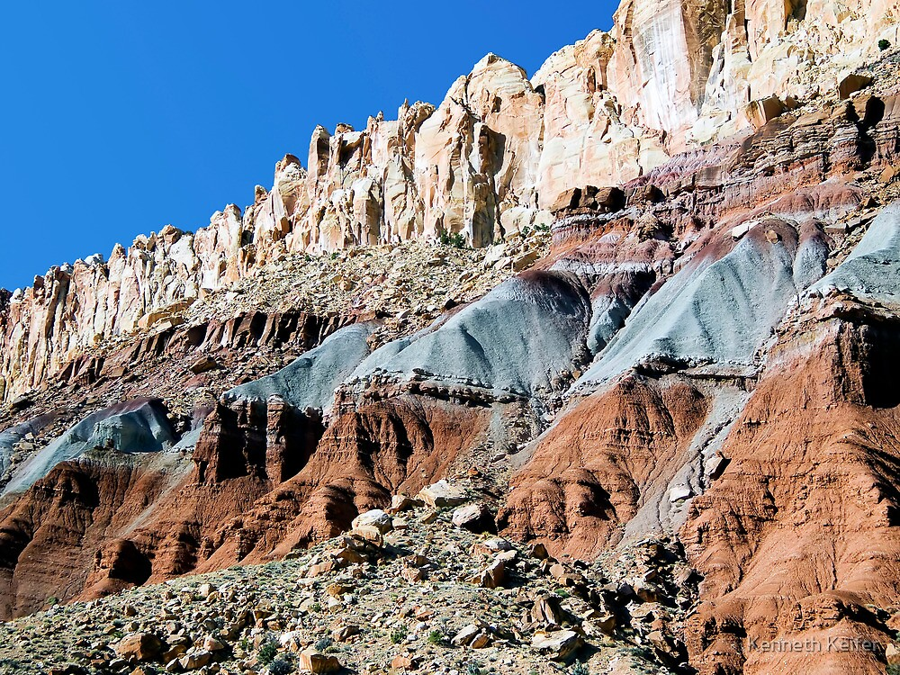 The Waterpocket Fold, Capitol Reef NP, Utah, USA by Kenneth Keifer