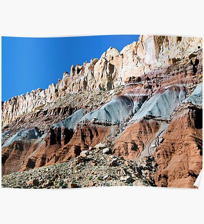 The Waterpocket Fold, Capitol Reef NP, Utah, USA Poster