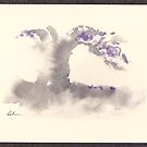 &quot;Morning Mist&quot;   Sumi e wash painting by Rebecca Rees