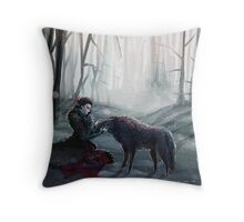 The Queen and the Wolf (Once Upon a Time) Throw Pillow