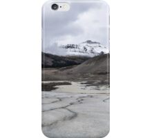Panoramic of the Athabasca Glacier in the Canadian Rockies iPhone Case/Skin