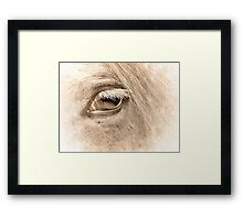 The way to heaven is on horseback. Framed Print