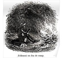 Achille Sirouy Mark Twain Les Aventures de Huck Huckleberry Finn illustration p059 Poster