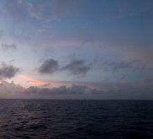 Sunset panorama, South China Sea by namrog477