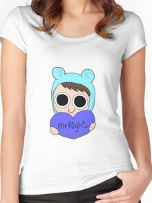 Mr Right Women's Fitted Scoop T-Shirt