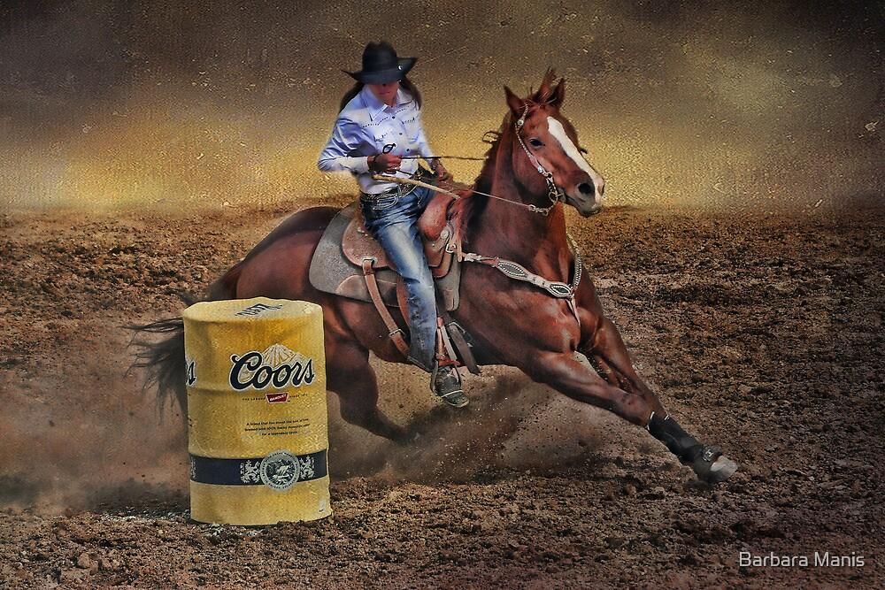 Barrel Rider Cowgirl by Barbara Manis