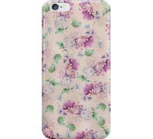 Girly pink retro vintage elegant floral pattern  iPhone Case/Skin