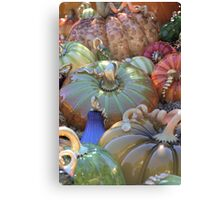 Glass Pumpkins by T Powers Canvas Print