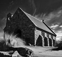 church of the good shepherd, lake tekapo, nz by rina  thompson