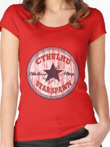 Cthulhu Star Spawn (distressed) Women's Fitted Scoop T-Shirt