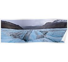 Panoramic of the Athabasca Glacier in the Canadian Rockies Poster