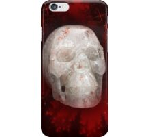 Crystal Skull On Red iPhone Case/Skin