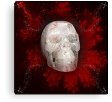 Crystal Skull On Red Canvas Print