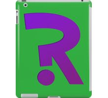 ?R - Riddler Logo iPad Case/Skin