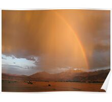 Rainbow Over Lake Isabella Poster