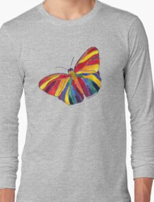 Rainbow Butterfly Long Sleeve T-Shirt