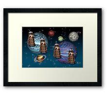 March Of The Daleks Framed Print