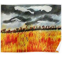 Batten down the hatches!!! watercolor Poster