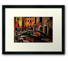 A Venice Neighborhood Framed Print