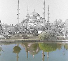 Hagia Sofia Drawn by Quixotegraphics