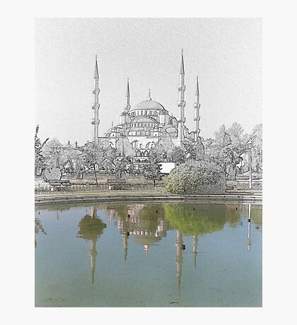 Hagia Sofia Drawn Photographic Print