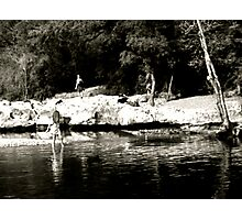 Summer Time Water Wading - Austin, TX Photographic Print