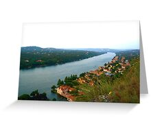 Stretches On - View from Mount Bonnell - Austin, TX Greeting Card