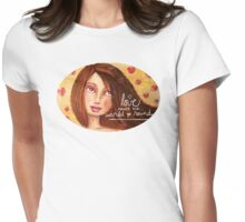 Love Makes the World Go Round Womens Fitted T-Shirt