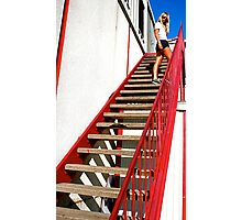 Stairway - Hudson's Meat Market - South Congress, Austin, TX Photographic Print
