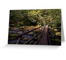 Log Bridge Greeting Card