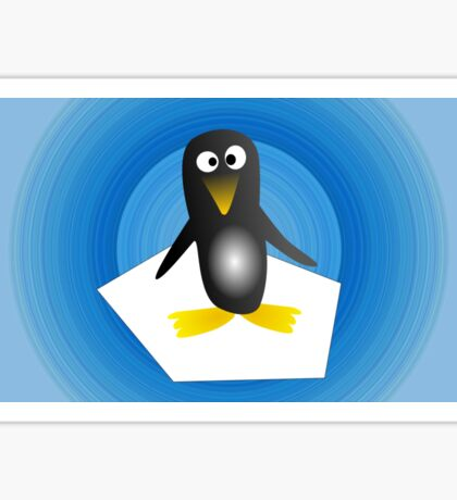 Penguin with Gradient  Sticker