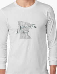Minnesota State Typography Long Sleeve T-Shirt