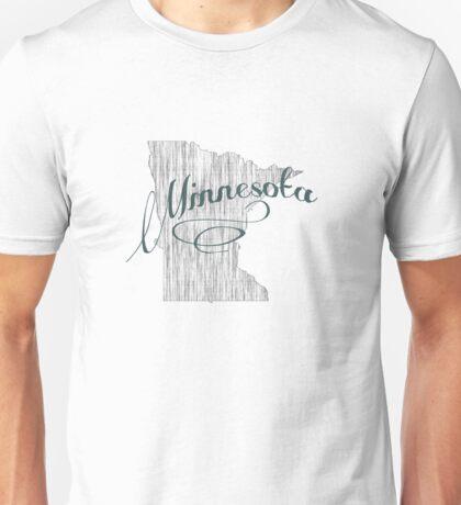 Minnesota State Typography Unisex T-Shirt
