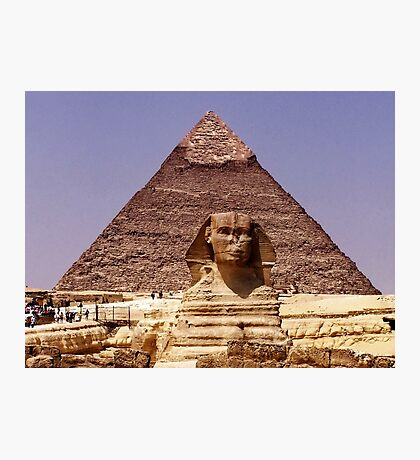 The famous Sphinx Photographic Print