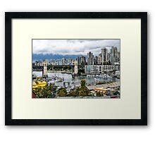 Granville Island, Vancouver, Canada Framed Print