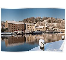 Winter Reflections on the River Barrow, Graiguenamanagh, County Kilkenny, Ireland Poster