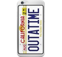 Outatime License Plate  iPhone Case/Skin