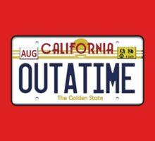 Outatime License Plate  Kids Tee