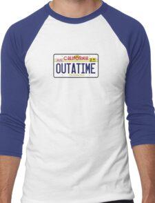 Outatime License Plate  Men's Baseball ¾ T-Shirt