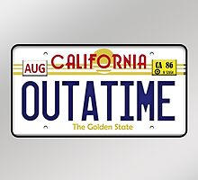Outatime License Plate  by subtnut