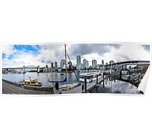 Panoramic from Granville Island, Vancouver, Canada Poster