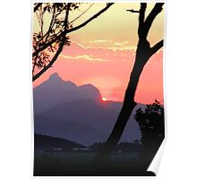 Mt Warning in Pink Poster