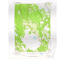 USGS Topo Map Oregon Swan Lake 282933 1957 62500 Poster