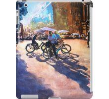Bicycle shadows on the sunny street iPad Case/Skin