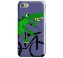 Funky Cool Alligator Riding Bicycle iPhone Case/Skin