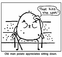 Old man potato by DoodleDesigns