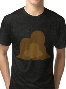 PKMN Silhouette - Diglett family Tri-blend T-Shirt