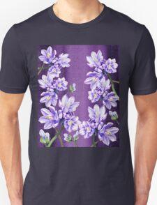 Purple On Purple Garden Flowers T-Shirt