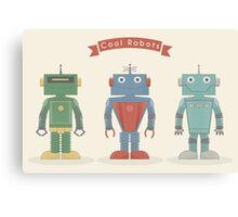 Vintage Robots Canvas Print